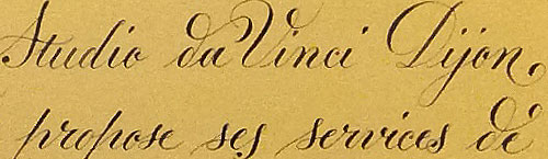 Essais Anglaise Copperplate