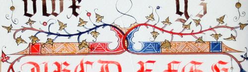 Enluminure gothique textura XVe s