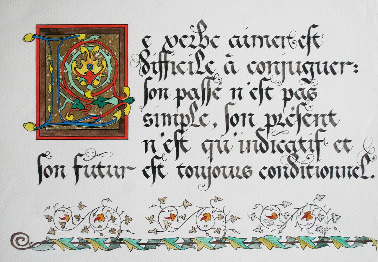 Calligraphie & Enluminure